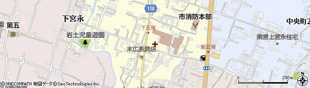 大分県中津市上宮永300周辺の地図