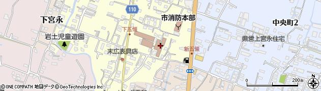 大分県中津市上宮永348周辺の地図