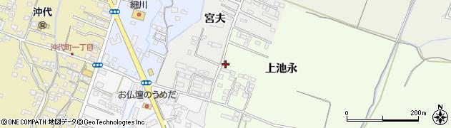 大分県中津市上池永1206周辺の地図