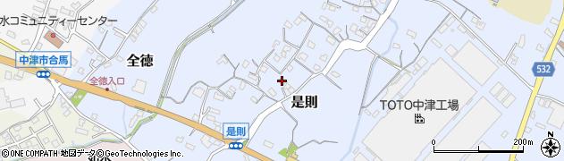 大分県中津市是則126周辺の地図