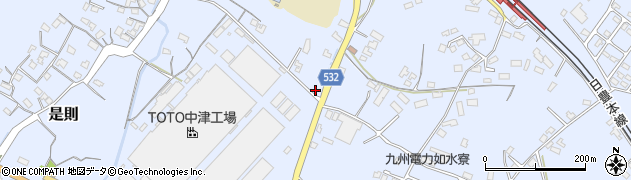 大分県中津市是則827周辺の地図