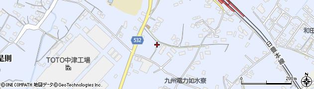 大分県中津市是則1035周辺の地図