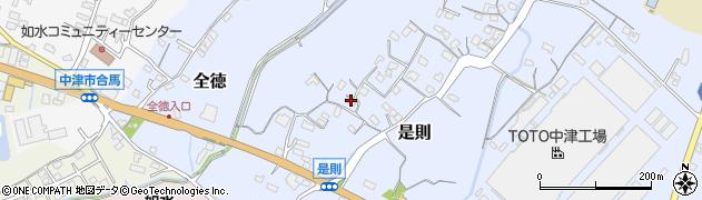 大分県中津市是則116周辺の地図