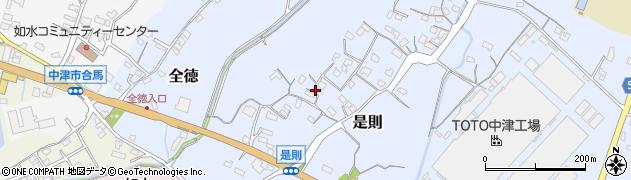 大分県中津市是則周辺の地図