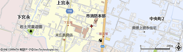 大分県中津市上宮永353周辺の地図