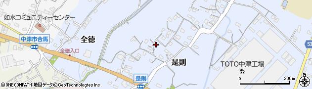 大分県中津市是則104周辺の地図