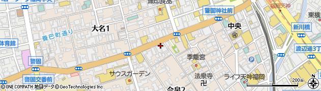 占いの館救世主周辺の地図