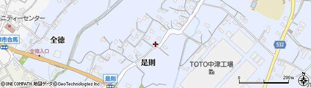 大分県中津市是則73周辺の地図