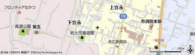 大分県中津市上宮永1030周辺の地図