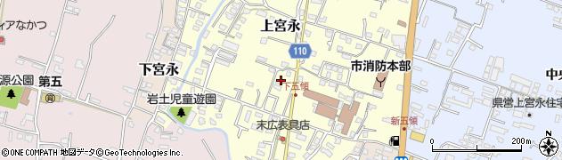 大分県中津市上宮永1039周辺の地図