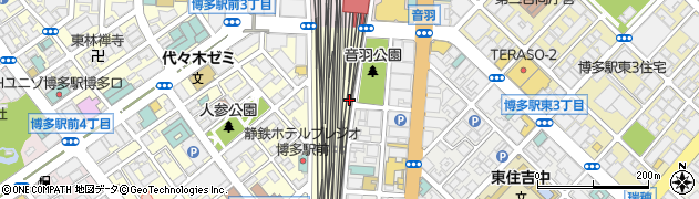 JR九州 博多電力区周辺の地図