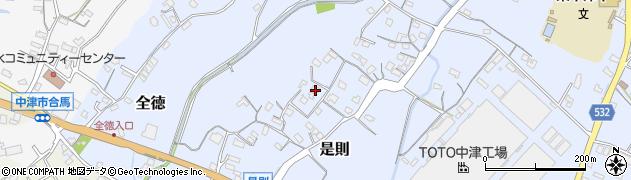 大分県中津市是則91周辺の地図