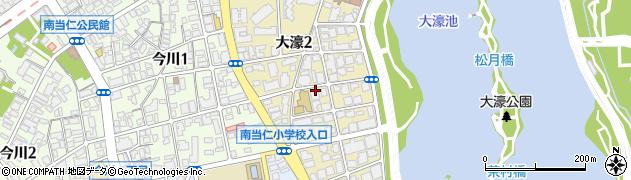 福岡県福岡市中央区大濠周辺の地図