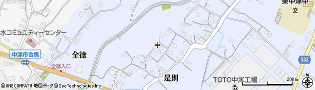 大分県中津市是則84周辺の地図