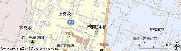 大分県中津市上宮永374周辺の地図