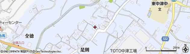 大分県中津市是則196周辺の地図