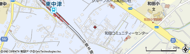 大分県中津市是則1382周辺の地図