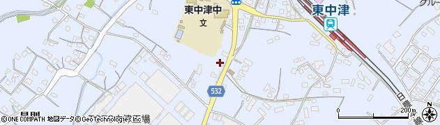 大分県中津市是則836周辺の地図