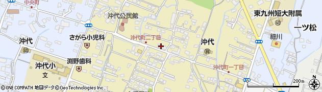 大分県中津市沖代町周辺の地図