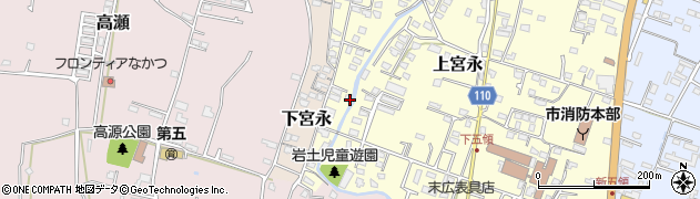 大分県中津市上宮永1302周辺の地図
