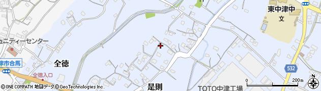 大分県中津市是則58周辺の地図