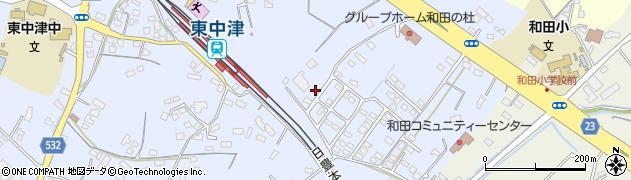 大分県中津市是則1384周辺の地図