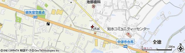 大分県中津市合馬455周辺の地図