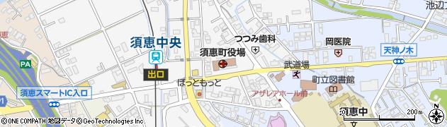 福岡県糟屋郡須惠町周辺の地図