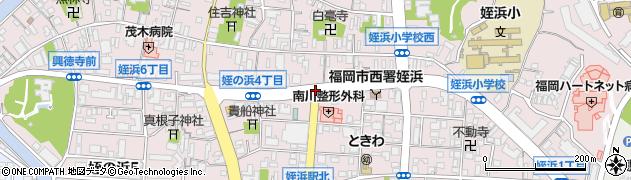 姪浜駅北口周辺の地図