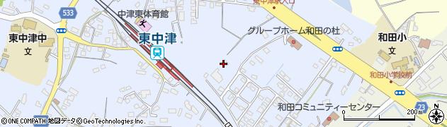 大分県中津市是則1306周辺の地図