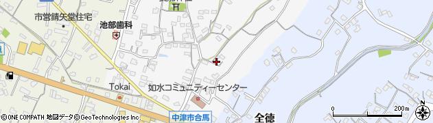 大分県中津市合馬64周辺の地図