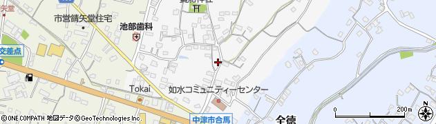 大分県中津市合馬493周辺の地図
