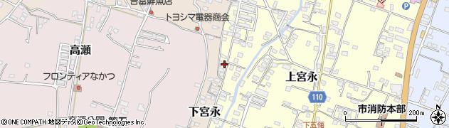 大分県中津市上宮永1282周辺の地図