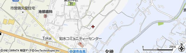 大分県中津市合馬61周辺の地図