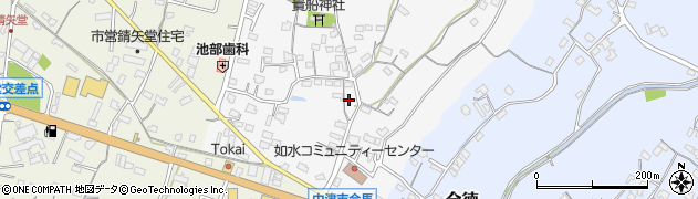 大分県中津市合馬517周辺の地図