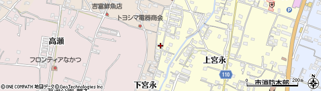 大分県中津市上宮永1278周辺の地図