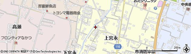 大分県中津市上宮永1053周辺の地図
