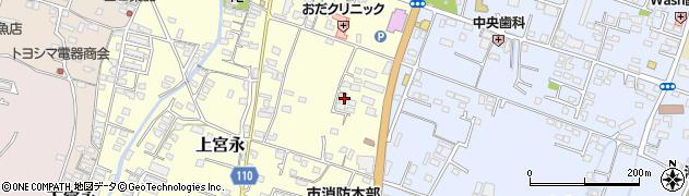 大分県中津市上宮永3周辺の地図