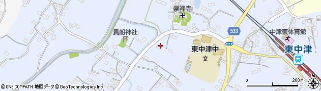 大分県中津市是則536周辺の地図