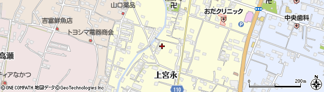 大分県中津市上宮永1052周辺の地図