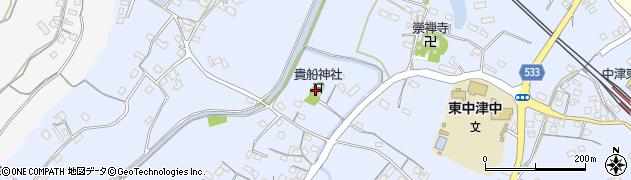 大分県中津市是則263周辺の地図