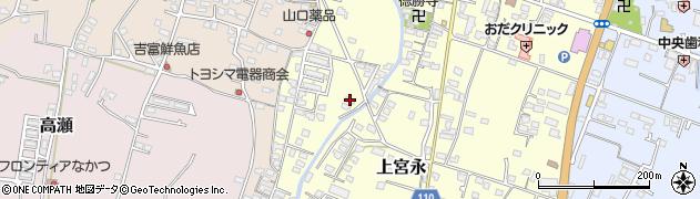 大分県中津市上宮永1024周辺の地図