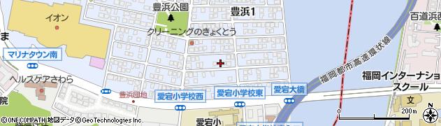 福岡県福岡市西区豊浜周辺の地図