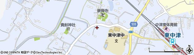 大分県中津市是則516周辺の地図