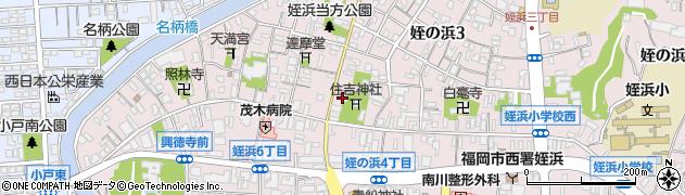 福岡県福岡市西区姪の浜周辺の地図