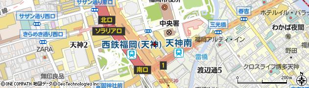 ロンシャン大丸福岡天神店周辺の地図