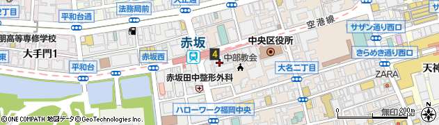 株式会社ノットグローバル 福岡支店周辺の地図