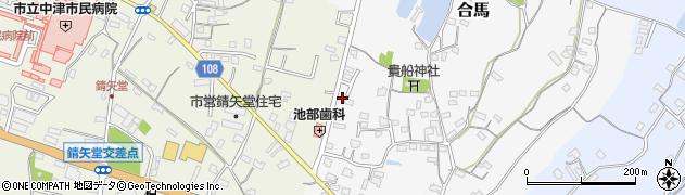 大分県中津市合馬413周辺の地図