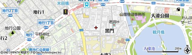 福岡県福岡市中央区黒門周辺の地図