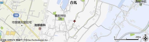 大分県中津市合馬554周辺の地図